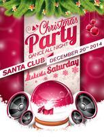 Vector Christmas Party-ontwerp met vakantie typographiy elementen