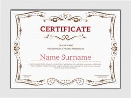 Vintage golden classic certificate of achievement template vector