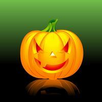vektor illustration på ett Halloween tema med pumpa
