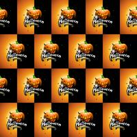 Nahtlose Musterillustration Halloweens mit furchtsamen Gesichtern und Mond der Kürbise