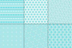 light blue eyelet embroidery patterns vector