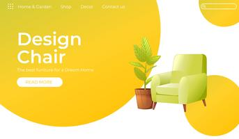 Classic Chair for your home interior design banner