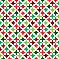 Vector seamless pattern illustration on a Christmas Holiday theme on white background.