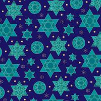 blue and gold ornate jewish star pattern