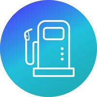 Brandstofstation Vector Icon