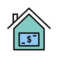 House Price Vector Icon
