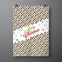 Vector Merry Christmas Holiday illustration with typographic design
