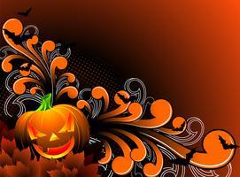 Vektor-Illustration zu einem Halloween-Thema mit Kürbis