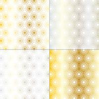 silver and gold mod starburst patterns