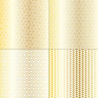 mod gold and white geometric patterns