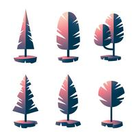 Bäume Clipart Set