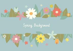 Spring Banner Floral Background vector