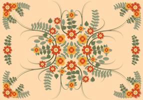 Bloem Clipart instellen vectorillustratie