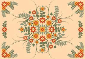 Blume Clipart-gesetzte Vektor-Illustration