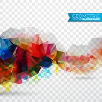 Vector geometric triangles background. Abstract polygonal design