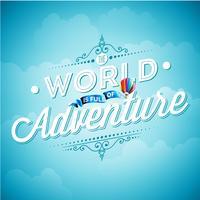 Vektor typografi designelement för gratulationskort och affischer