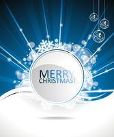Blå vektor Juldesign bakgrund med textutrymme.