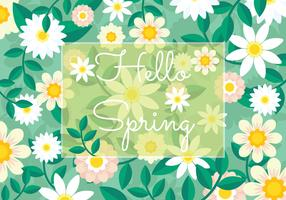Vecteur de papier peint de printemps