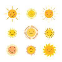 Conjunto de imágenes del sol