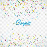 Colorful Vector Confetti Illustration on Transparent Background.