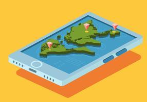 Carte internationale 3D
