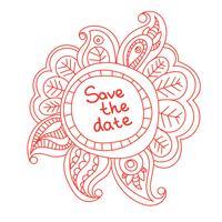 banner floral doodle