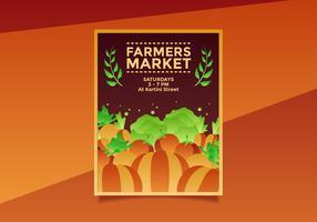 Flyer Design Farmers Market Template Vecteur