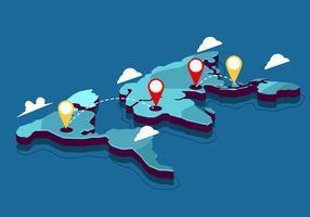 3D-internationale kaart