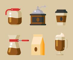 Coffee Elements Clipart Set