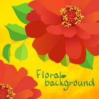 border background with flowers vector