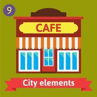 Edificio de cafetería, bistró