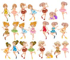 Beautiful fairies in colorful clothes