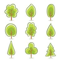Hand Drawn Tree Collection Vector