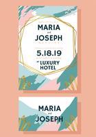 Hochzeits-Einladungs-Karten-Schablonen-Vektor-Design