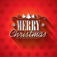 Vector el ejemplo de la Navidad con diseño tipográfico en fondo de los copos de nieve.
