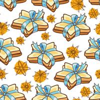 Seamless pattern cookies vector