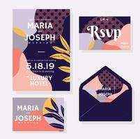 Wedding Invitation Elements Vector Pack