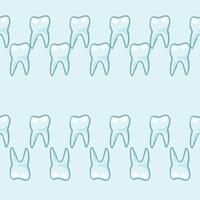 White teeth on blue background.