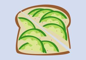 Gezonde avocado Toast vectoren