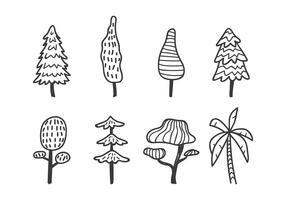 Árbol lindo del doodle
