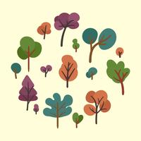 tree clipart set
