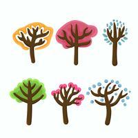 conjunto de imágenes prediseñadas de árbol