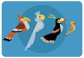 Fåglar Clipart Vektor