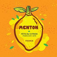 Vettore del manifesto di Menton France Lemon Festival
