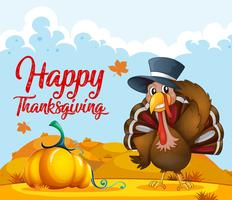 Turkey and orange autumn template