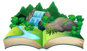 Livre ouvert avec paysage nature