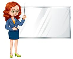 A professional female presentation vector