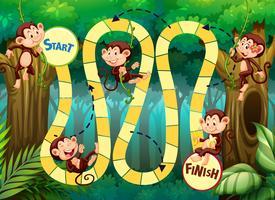 Happy monkey board game template