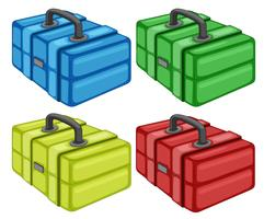 Different tool box on white background