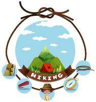 Travel theme with hiking in mountain